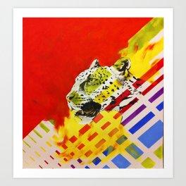 Leopard Stripes Art Print
