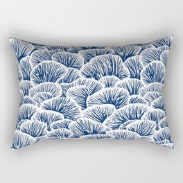 Mushroom Pattern - Dark Blue Rectangular Pillow