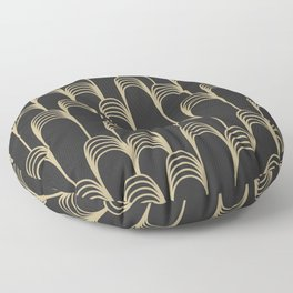 Prelude in Black and Gold Floor Pillow
