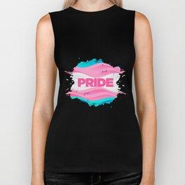 Trans Pride Ink Blot Biker Tank