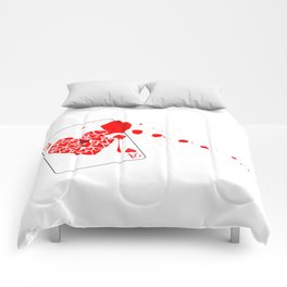 Ace of Hearts With Blood Comforters