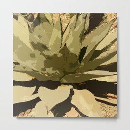 Agave Leaves Metal Print