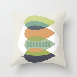 Fall Shades, Leaves of Autumn, Abstract Throw Pillow