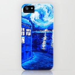 Tardis Starry Art Night iPhone Case