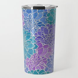 Dahlia Flower Pattern 6 Travel Mug