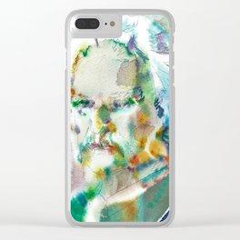 MARK TWAIN - watercolor portrait Clear iPhone Case