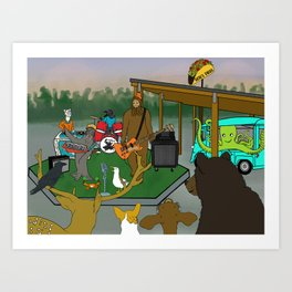 """Flock of Gerrys Gerry Loves Tacos """"The Band's Big Show"""" by Seasons Kaz Sparks Art Print"""