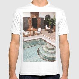 Swimming Pool In Riad Kasbah Marrakech Photo | Morocco Travel Photography Art Print | Arabic House Interior Design T-shirt