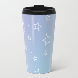 Lavender acqua stars pattern Travel Mug