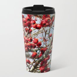 Red Berries Travel Mug
