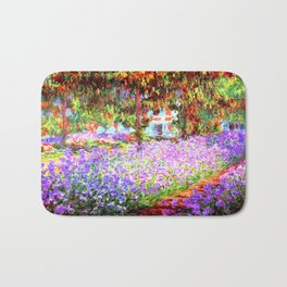 Monets Garden in Giverny Bath Mat