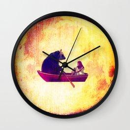 bear in the moon Wall Clock