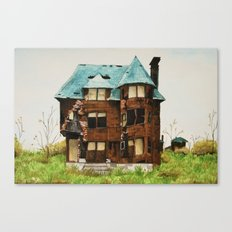 Abandoned House in Detroit Canvas Print