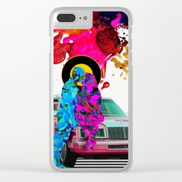 Globetrotters - Colorful Abstract Couple Collage Clear iPhone Case