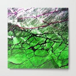 Green Labradorite Crystal Metal Print