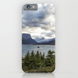 St Mary's Lake and Wild Goose Island iPhone Case