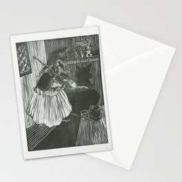 Wolf Entering Grandma's House Stationery Cards