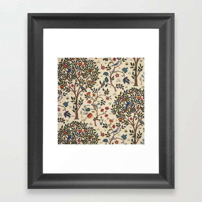 "William Morris ""Kelmscott Tree"" 1. Gerahmter Kunstdruck"