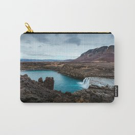 Lake Mountain sky blue Carry-All Pouch