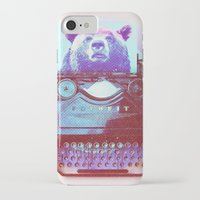 writer iPhone & iPod Cases featuring Grizzly writer by RedGoat