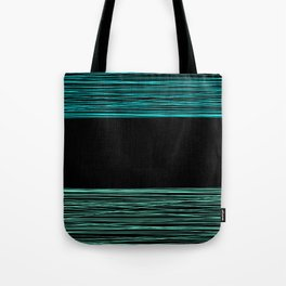 Thread , black and green Tote Bag