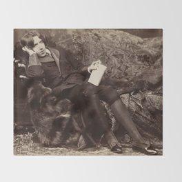 Oscar Wilde Lounging Portrait Throw Blanket
