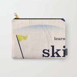 Learn to ski vintage cartoon Carry-All Pouch