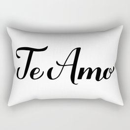 Te Amo calligraphy hand lettering. I Love You in Spanish Rectangular Pillow