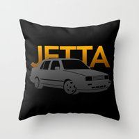 volkswagen Throw Pillows featuring Volkswagen Jetta by Vehicle