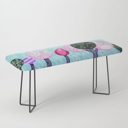 Pink grove Bench