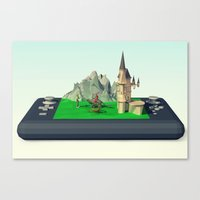 video games Canvas Prints featuring Fantasy Video games  by Amro Arida