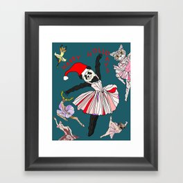 Hipster Holiday Ballerinas Framed Art Print
