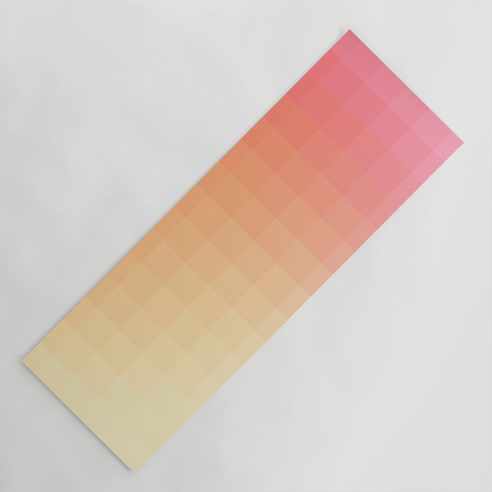 Lumen Pink And Orange Light Yoga Mat By Amini54 Society6
