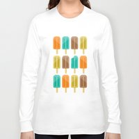 popsicle Long Sleeve T-shirts featuring Popsicle by Liz Urso