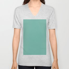 Green Sheen Unisex V-Neck