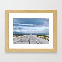Somewhere Along The Way Framed Art Print