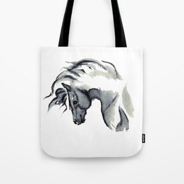 Gray Horse in ink Tote Bag