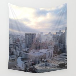 Looking Through Glass Wall Tapestry