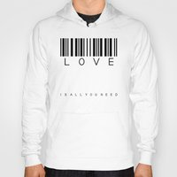 all you need is love Hoodies featuring LOVE is all you need by Steffi Louis