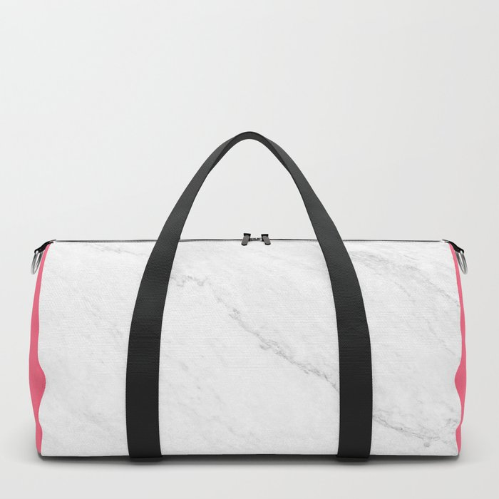 Marble And Pink Duffle Bag