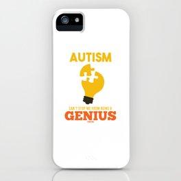 Autistic puzzle Autism giftedness iPhone Case