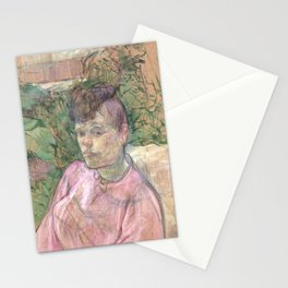 "Henri de Toulouse-Lautrec ""Woman in the Garden of Monsieur Forest"" Stationery Cards"