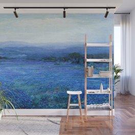 Bluebonnet Panoramic Landscape in Twilight painting by Robert Julian Onderdonk Wall Mural