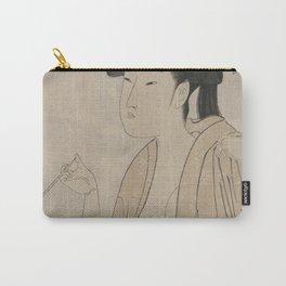 Japanese Art Print - Kitagawa Utamaro - Ten Expressions of Japanese Women - 3 (1791) Carry-All Pouch