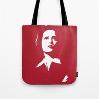 dana scully Tote Bags featuring Dana Scully - Whammy by Laura