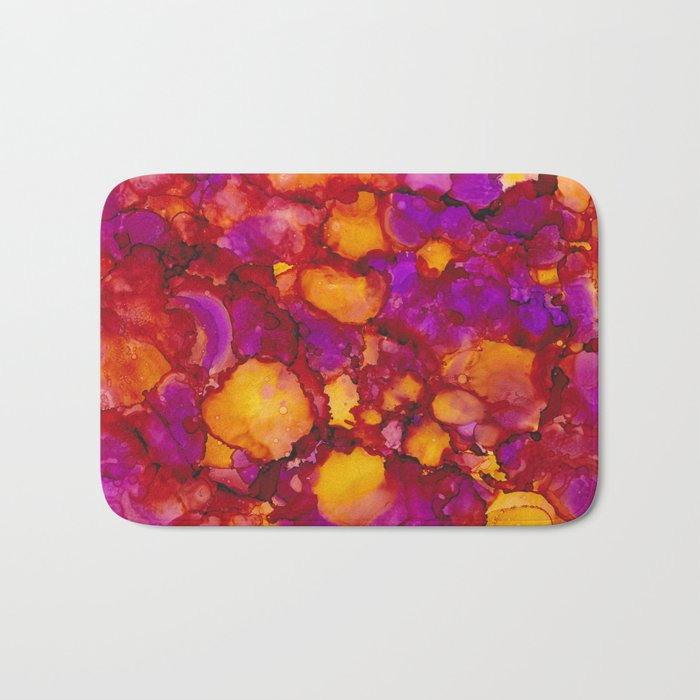 Happy spring - Alcohol ink drawing Bath Mat