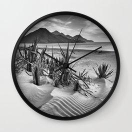 Dunes. Genoveses Beach. Bw Wall Clock