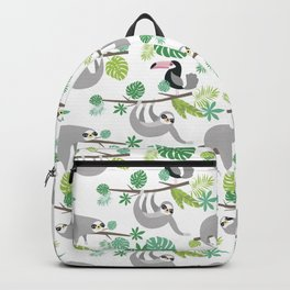 Happy Sloth Jungle Party Backpack