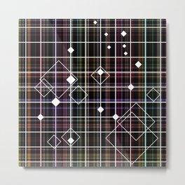 Dancing Diamonds on Plaid Metal Print