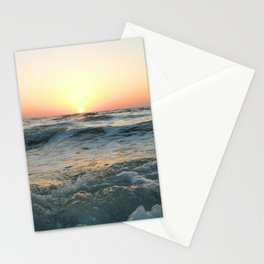 Sunsetting into Sea Stationery Cards